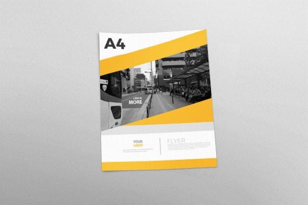 Design Flyer cu o față